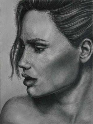 Cynthia, Graphite/Paper, 9x12