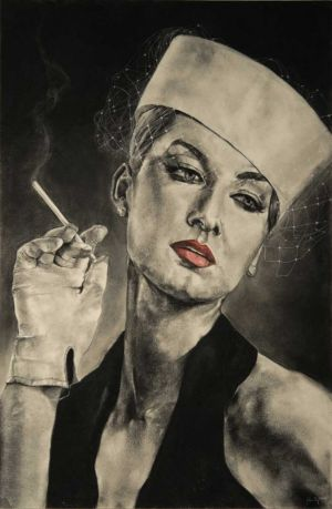 Glamour, Charcoal/Paper, 24x36