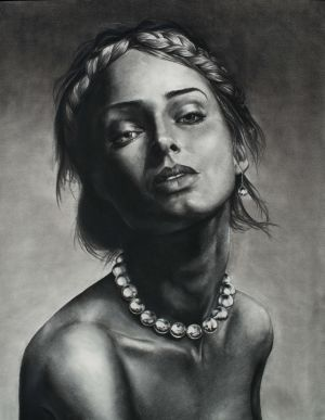 Pearls, Charcoal/Paper, 32x40