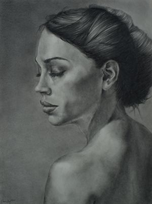 Solitude, Graphite/Paper,9x12